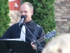 Stan Stewart plays and sings live music for a wedding