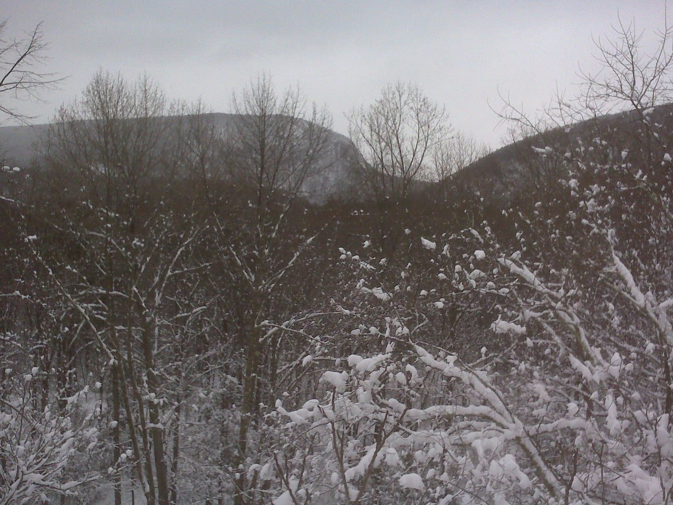 Winter View of The Gap