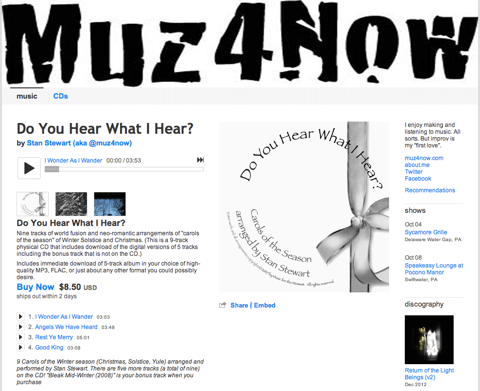 bandcamp review revisited - #musician services - @muz4now