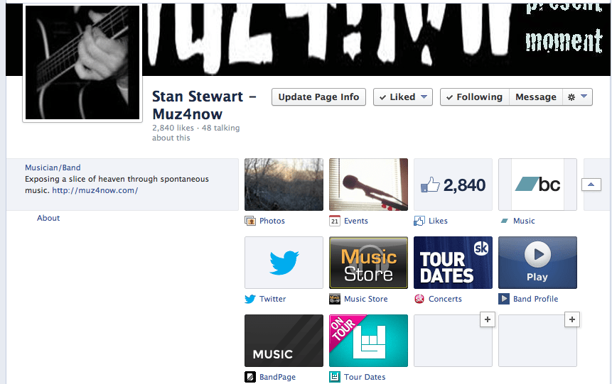 SongKick and BandsInTown in a FaceBook Page