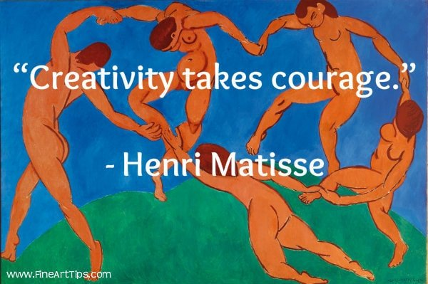 Artists require courage