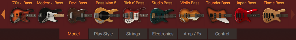 music technology - MODO Bass models