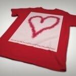 Squid heart t-shirt angle