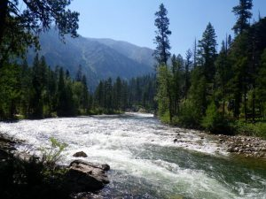 Middle Fork Rocks And Rapids