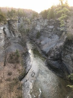 Taughannock Gorge majesty above