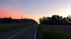 crossroads sunset