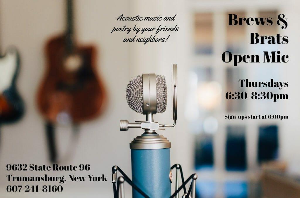 Brews & Brats Open Mic