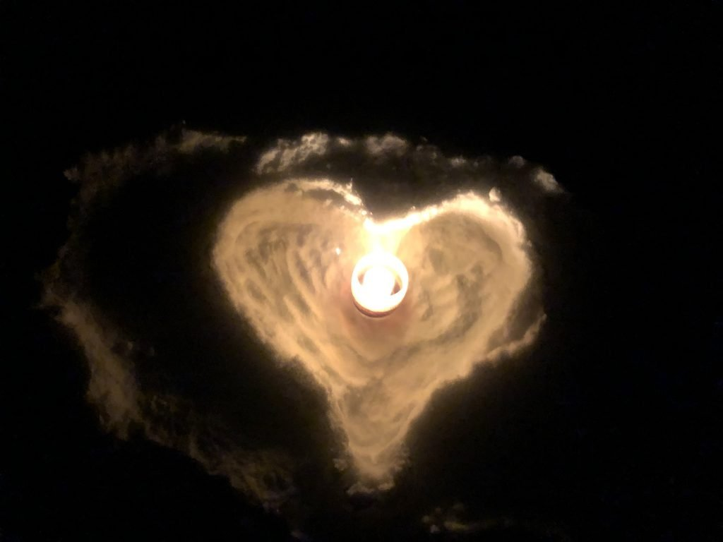 Spiral Heart Candle