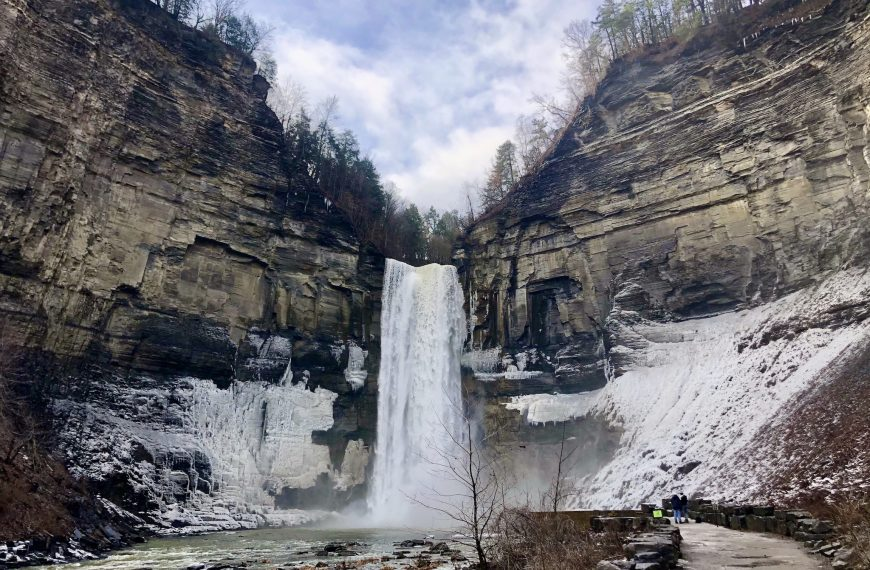 Inspiration from tall Taughannock Falls
