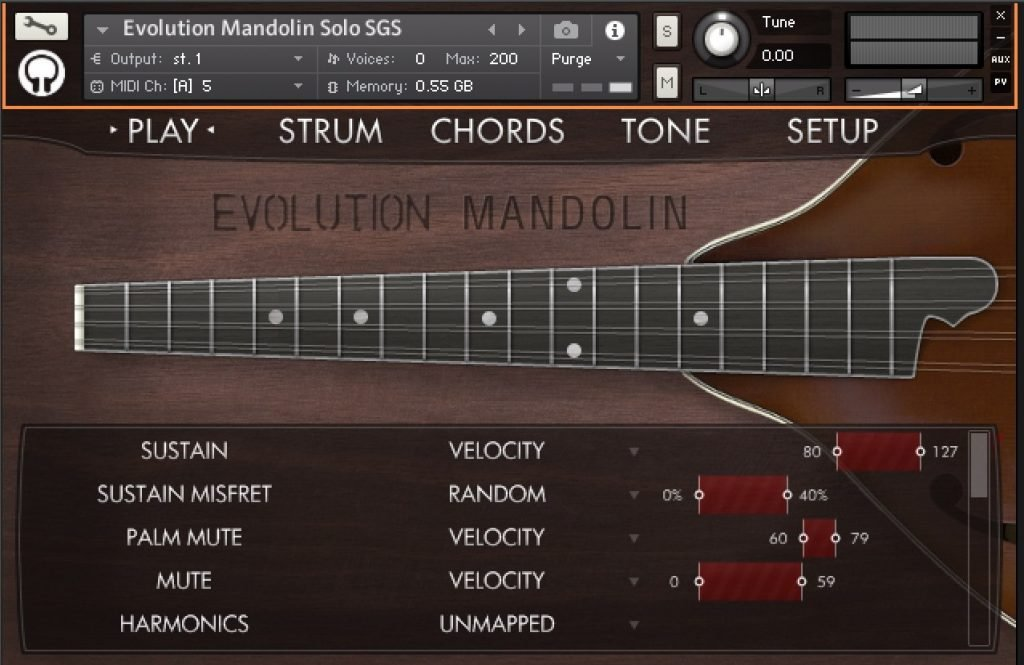 Orange Tree Samples' Evolution Mandolin