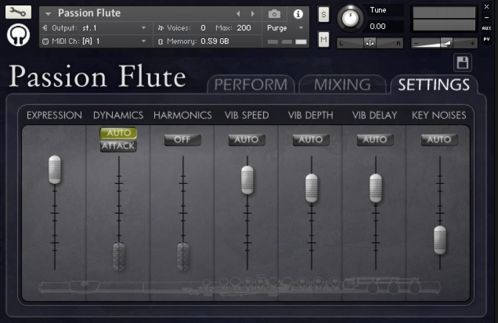 Passion Flute from Orange Tree Samples