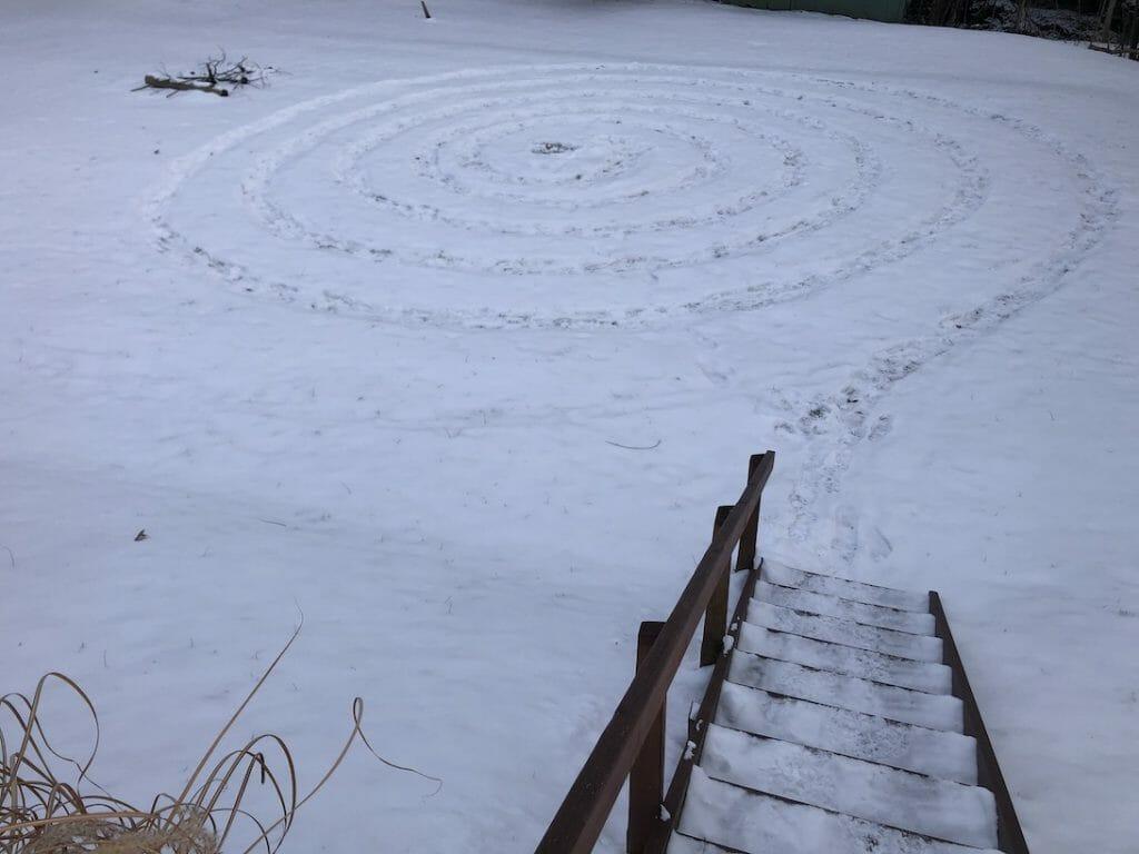 Snow Spiral Water Meditation