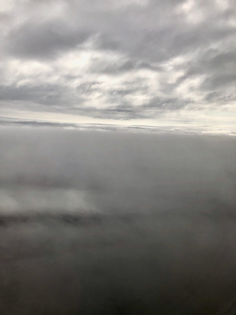 Clouds out a plane window