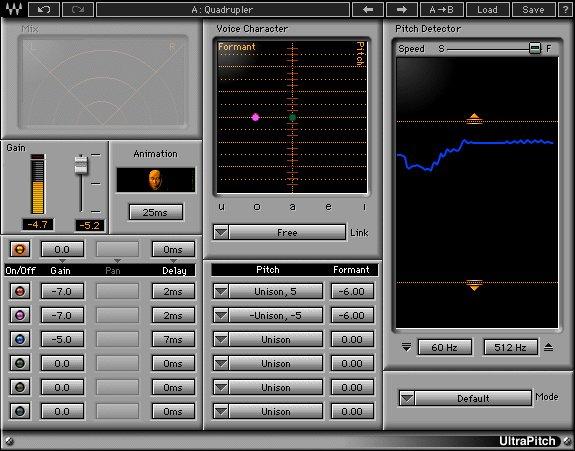 Waves' UltraPitch pitch-shifting audio plugin