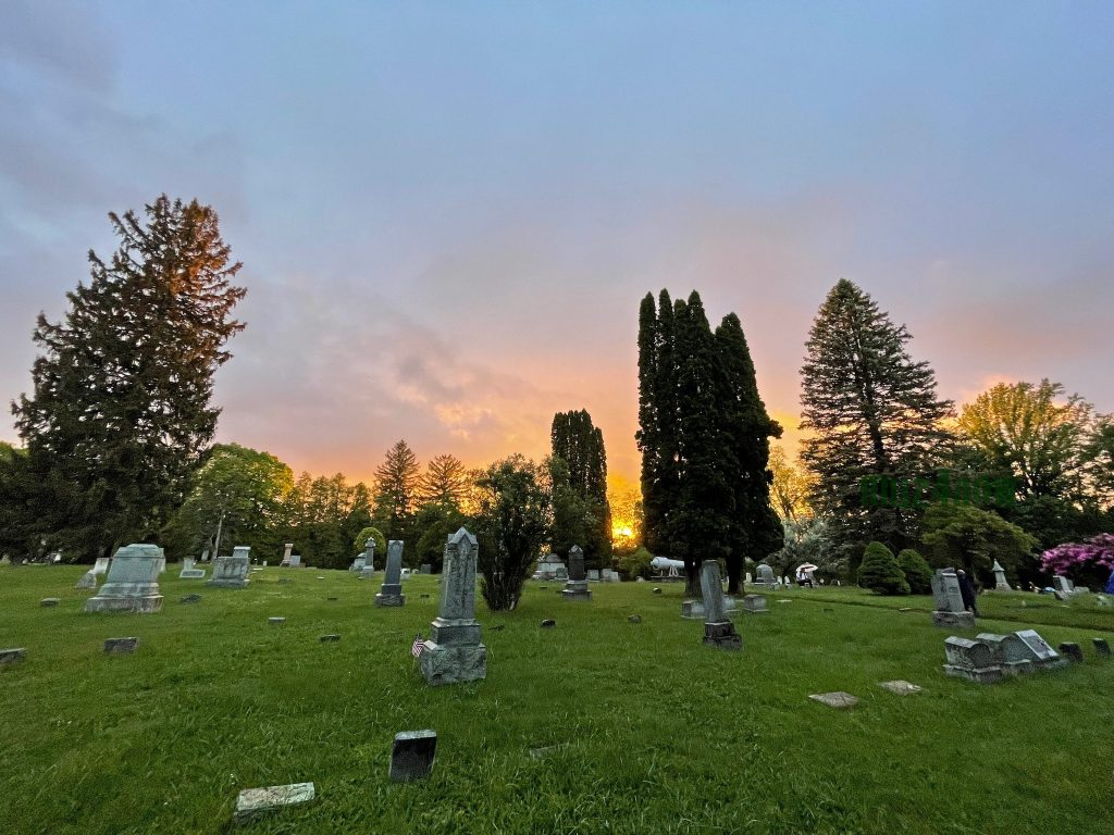 Encore Love - Sunset at a cemetary