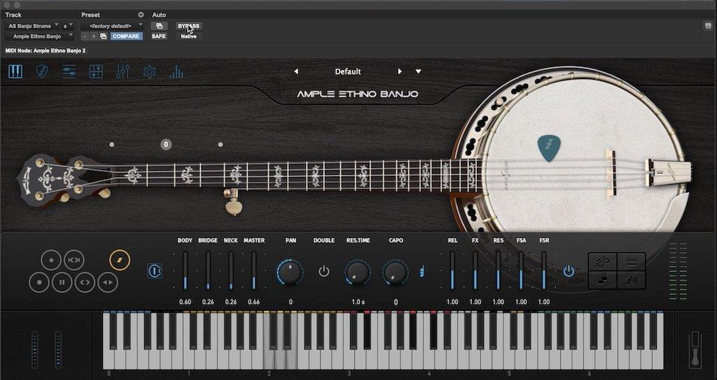 Ample Sounds Ethnic Banjo virtual instrument
