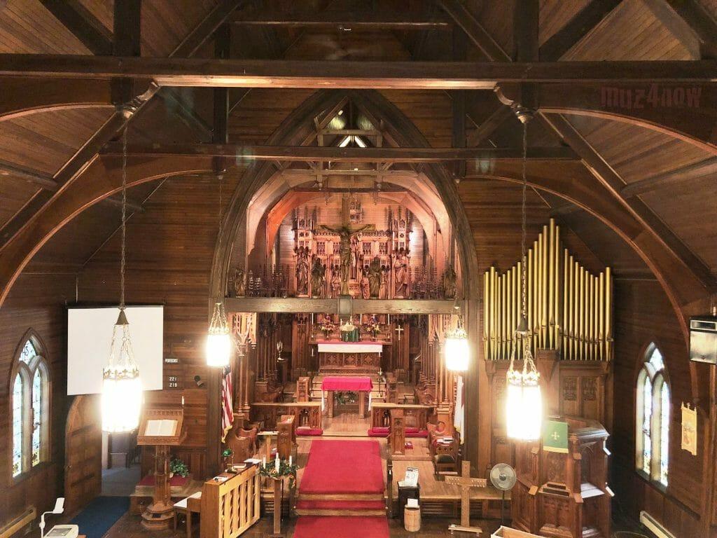 A church chancel