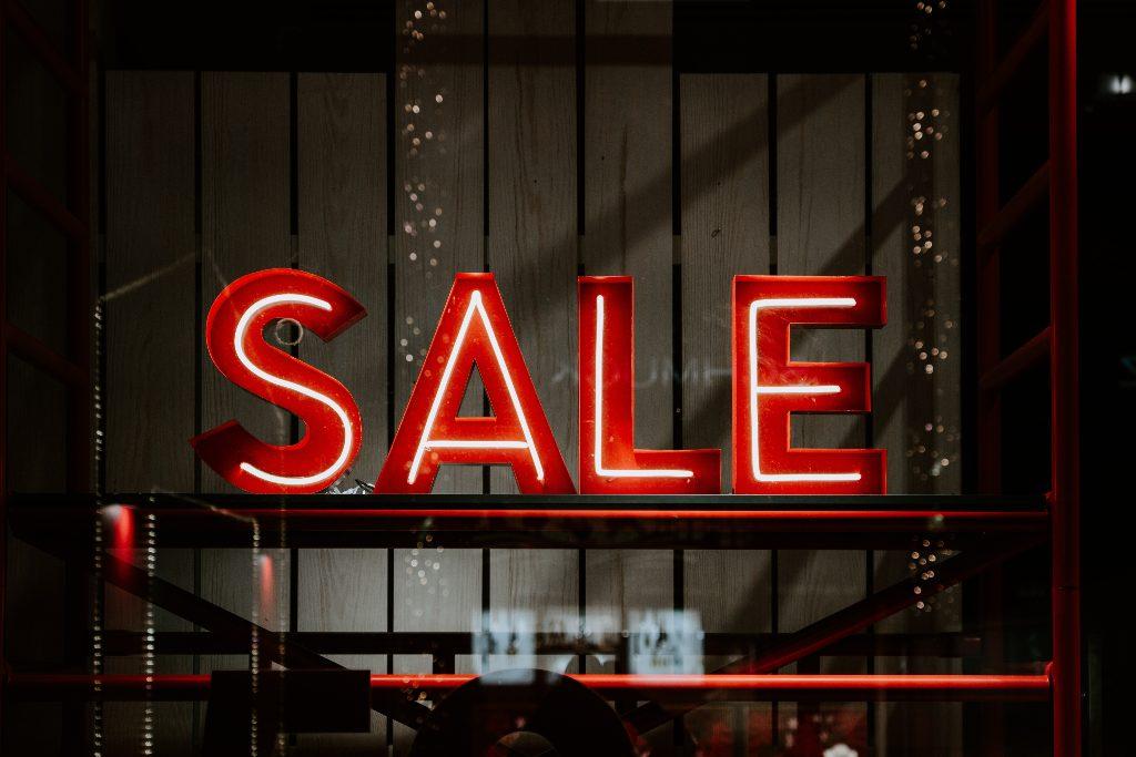 "Neon ""sale"" sign"