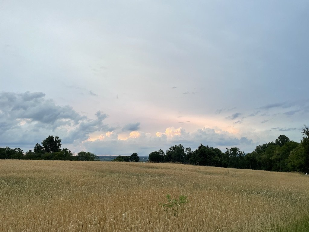 Early summer rain clouds in the Finger Lakes region